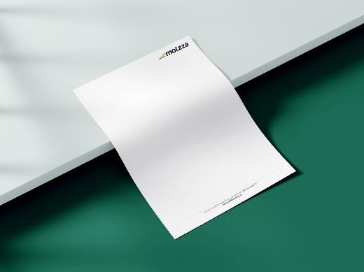 motzza logo letterhead